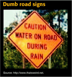 Figure. Dumb road si... - Click to enlarge in new window